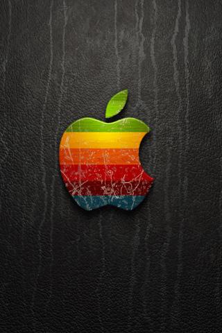 Worn Down Apple iPhone Wallpaper