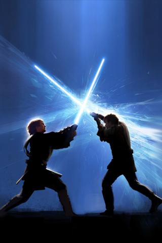 Jedi Fight iPhone Wallpaper