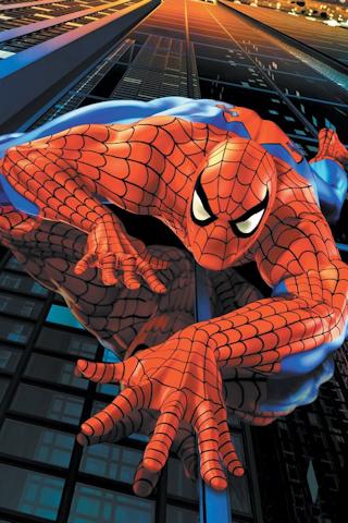 Spiderman Climb iPhone Wallpaper