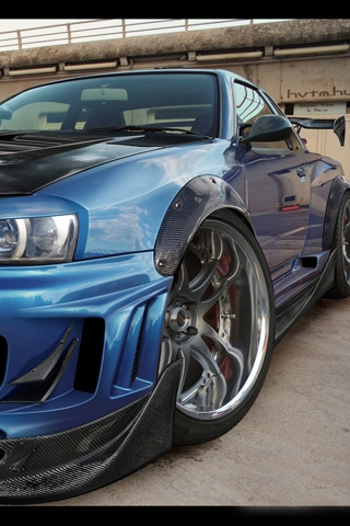 skyline gtr wallpaper. Nissan Skyline GTR iPhone