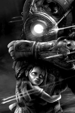 Bioshock Desaturated iPhone Wallpaper