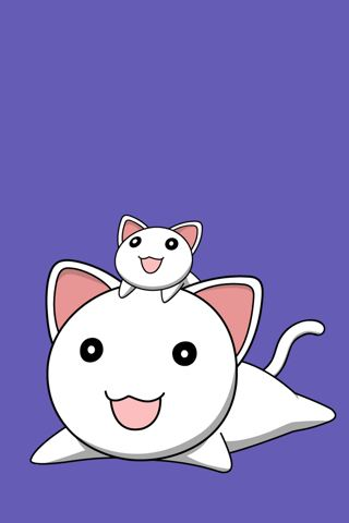 Neko Cats iPhone Wallpaper