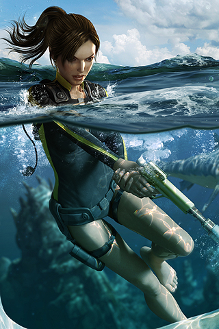 Tomb Raider - Lara Croft iPhone Wallpaper