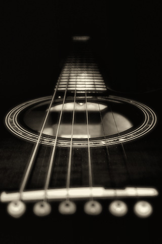 Guitar Strings iPhone Wallpaper