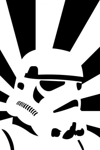 Stormtrooper Vector iPhone Wallpaper