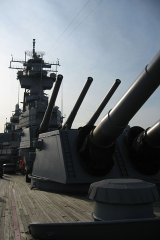 Warship Cannons iPhone Wallpaper