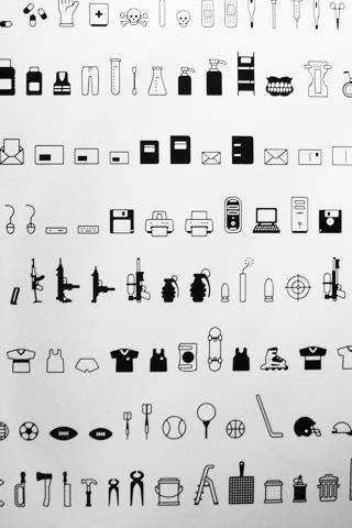 Random Icons iPhone Wallpaper