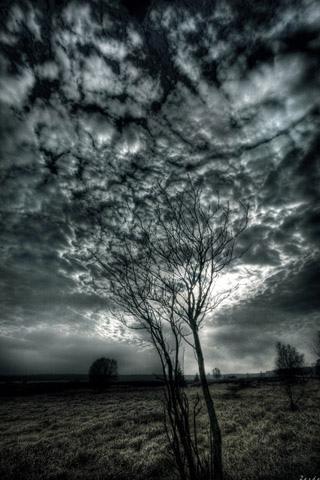 Eerie Sky iPhone Wallpaper
