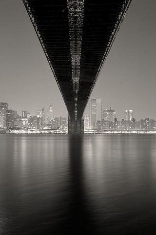 Michael Kenna Bridge iPhone Wallpaper
