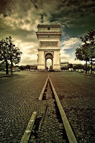 The Arc de Triumph Paris iPhone Wallpaper