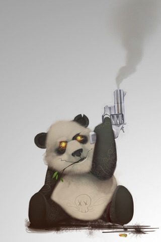 Evil Panda iPhone Wallpaper