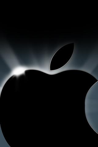 Shiny Apple Logo iPhone Wallpaper
