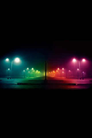 Colorful Street Lights iPhone Wallpaper