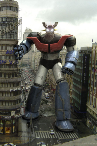 Mazinger Z Robot iPhone Wallpaper