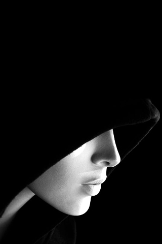 Hooded Lady iPhone Wallpaper