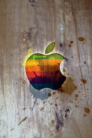Apple Logo Splatter iPhone Wallpaper
