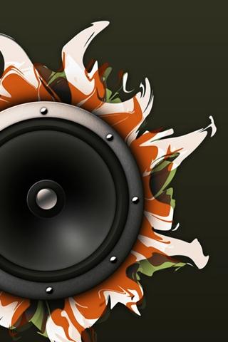 Abstract Speaker iPhone Wallpaper