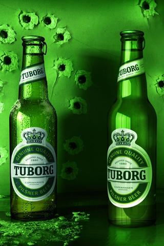 Tuborg Beer Bottles iPhone Wallpaper