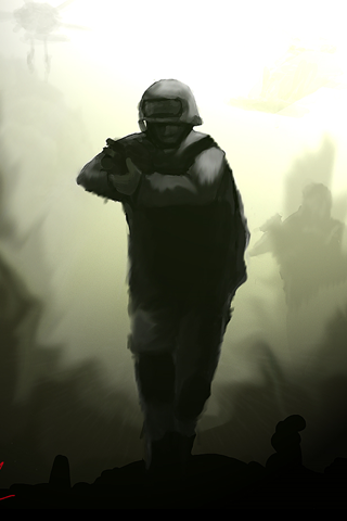 Call of Duty 4 Soldier iPhone Wallpaper
