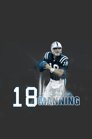Peyton Manning 18 iPhone Wallpaper