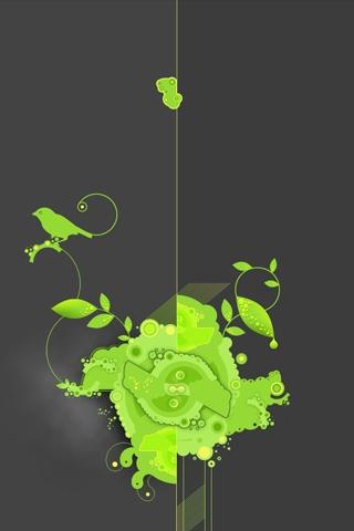 Green Vector iPhone Wallpaper