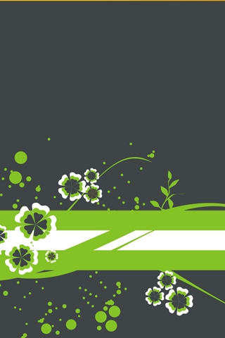 Green Flower Vectors iPhone Wallpaper