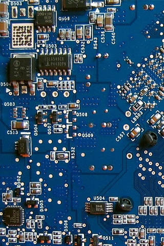 Blue Circuit Board iPhone Wallpaper | iDesign iPhone