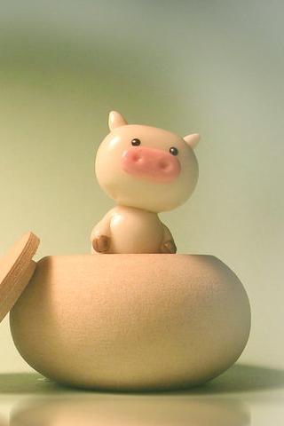 Porcelin Piggy iPhone Wallpaper
