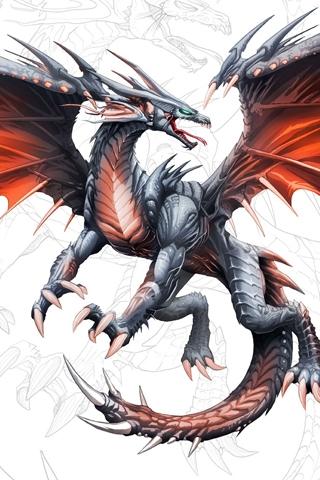 3D Dragon iPhone Wallpaper