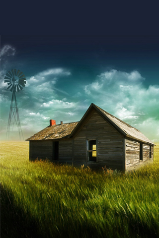 Abandoned House iPhone Wallpaper