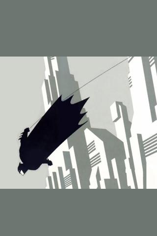 Flying Batman Vector iPhone Wallpaper