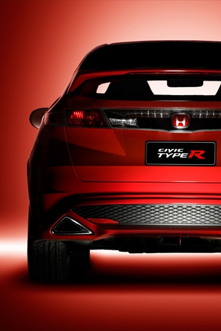 Honda Civic Type R Rear iPhone Wallpaper