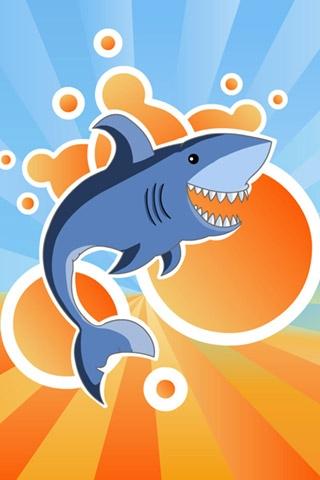 Vector Shark iPhone Wallpaper