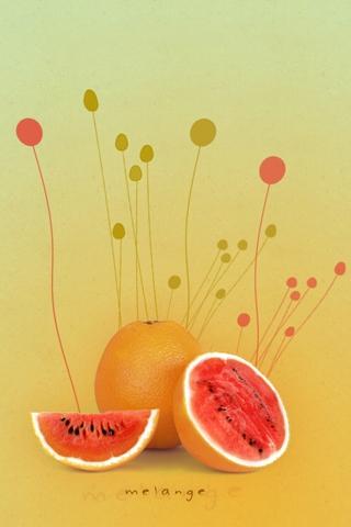 Melange - Melons iPhone Wallpaper