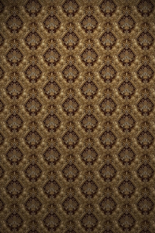 Brown Victorian Print iPhone Wallpaper