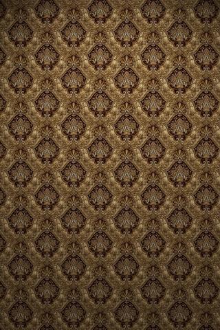 Brown Victorian Print iPhone Wallpaper | iDesign iPhone