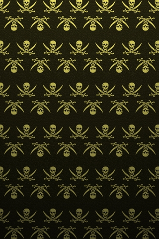 Pirate Pattern iPhone Wallpaper