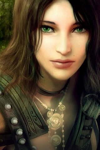 Green Eyed Girl iPhone Wallpaper