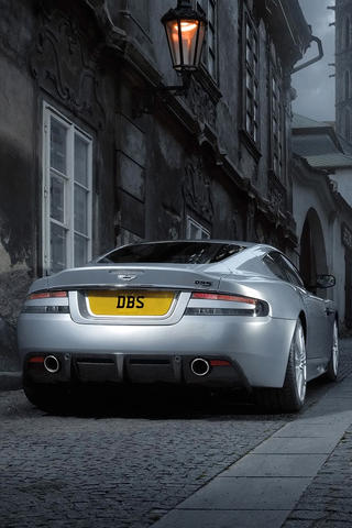 Aston Martin DB9 Rear iPhone Wallpaper