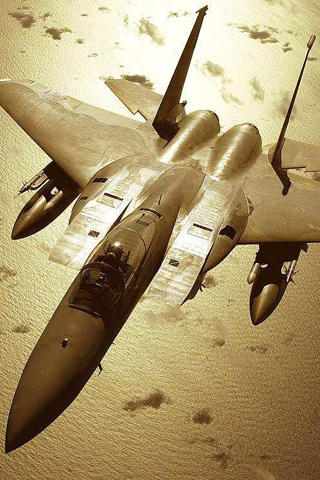 Military Fighter Jet iPhone Wallpaper