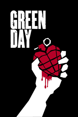 Green Day Logo iPhone Wallpaper