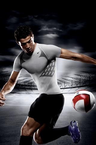Nike Soccer Advertisment iPhone Wallpaper