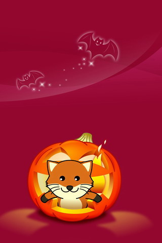 Firefox Haloween iPhone Wallpaper