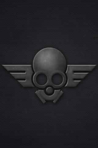 Masked Skull Logo iPhone Wallpaper