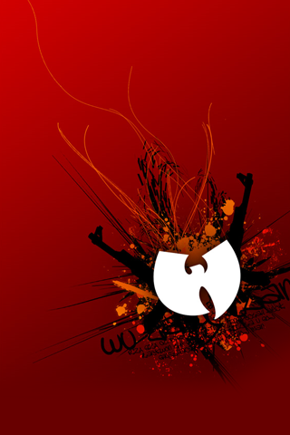 Abstract Wu Tang Logo iPhone Wallpaper