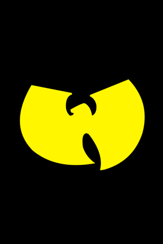 Yellow Wu Tang Logo iPhone Wallpaper