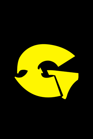 Yellow Gza Logo iPhone Wallpaper
