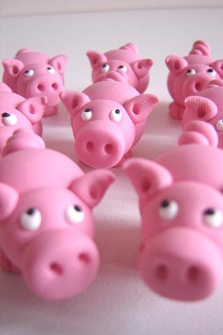 Multiple Pigs iPhone Wallpaper