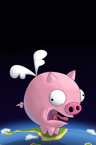 Funny Looking Pig iPhone Wallpaper
