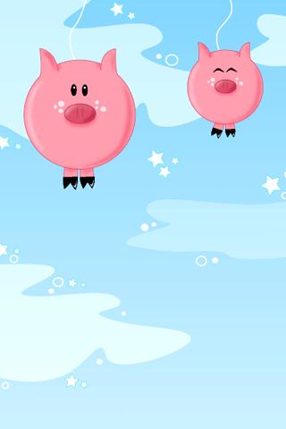 Vector Pigs iPhone Wallpaper